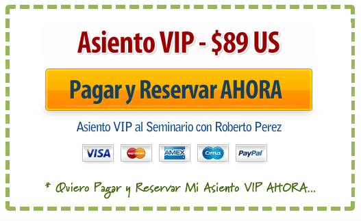 Asiento VIP $89 US