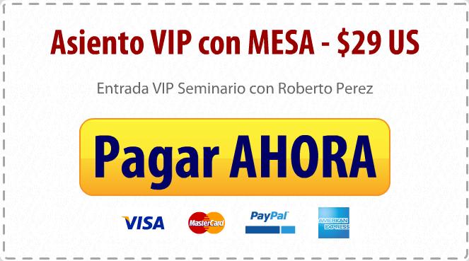 Entrada VIP $29 US